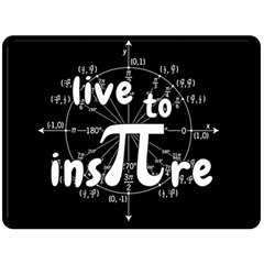 Pi Day Double Sided Fleece Blanket (large)