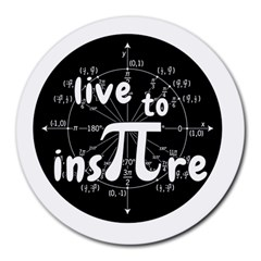 Pi Day Round Mousepads