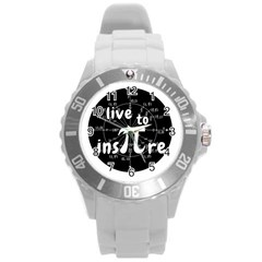 Pi Day Round Plastic Sport Watch (l)