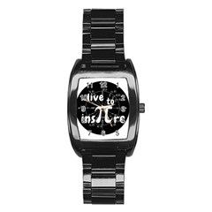 Pi Day Stainless Steel Barrel Watch