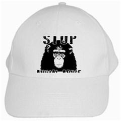 Stop Animal Abuse   Chimpanzee  White Cap