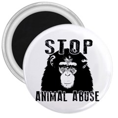 Stop Animal Abuse   Chimpanzee  3  Magnets