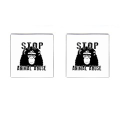Stop Animal Abuse   Chimpanzee  Cufflinks (square)