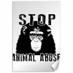 Stop Animal Abuse   Chimpanzee  Canvas 20  X 30