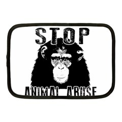 Stop Animal Abuse   Chimpanzee  Netbook Case (medium)