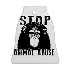 Stop Animal Abuse   Chimpanzee  Bell Ornament (two Sides)