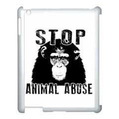 Stop Animal Abuse   Chimpanzee  Apple Ipad 3/4 Case (white)