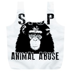 Stop Animal Abuse   Chimpanzee  Full Print Recycle Bags (l)