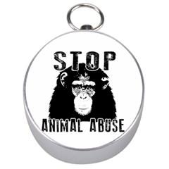 Stop Animal Abuse   Chimpanzee  Silver Compasses