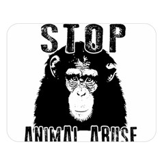 Stop Animal Abuse   Chimpanzee  Double Sided Flano Blanket (large)