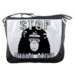 Stop Animal Abuse   Chimpanzee  Messenger Bags