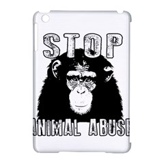 Stop Animal Abuse   Chimpanzee  Apple Ipad Mini Hardshell Case (compatible With Smart Cover)