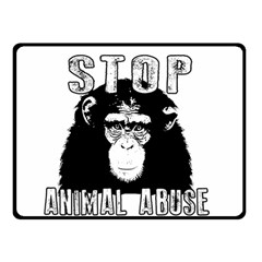 Stop Animal Abuse   Chimpanzee  Double Sided Fleece Blanket (small)