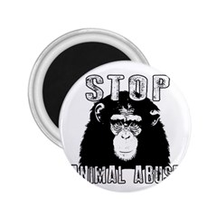 Stop Animal Abuse   Chimpanzee  2 25  Magnets
