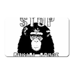Stop Animal Abuse   Chimpanzee  Magnet (rectangular)
