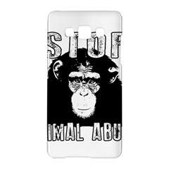 Stop Animal Abuse   Chimpanzee  Samsung Galaxy A5 Hardshell Case
