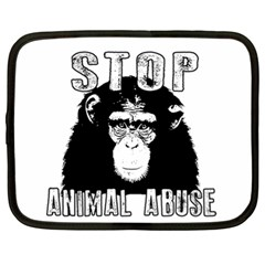Stop Animal Abuse   Chimpanzee  Netbook Case (xl)