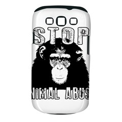 Stop Animal Abuse   Chimpanzee  Samsung Galaxy S Iii Classic Hardshell Case (pc+silicone)