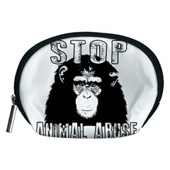 Stop Animal Abuse   Chimpanzee  Accessory Pouches (medium)
