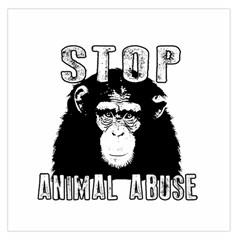 Stop Animal Abuse   Chimpanzee  Large Satin Scarf (square)