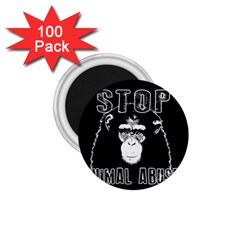 Stop Animal Abuse   Chimpanzee  1 75  Magnets (100 Pack)