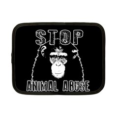 Stop Animal Abuse   Chimpanzee  Netbook Case (small)
