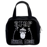Stop Animal Abuse - Chimpanzee  Classic Handbags (2 Sides) Front