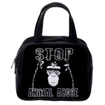 Stop Animal Abuse - Chimpanzee  Classic Handbags (2 Sides) Back