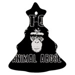 Stop Animal Abuse - Chimpanzee  Ornament (Christmas Tree)  Front