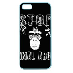 Stop Animal Abuse   Chimpanzee  Apple Seamless Iphone 5 Case (color)