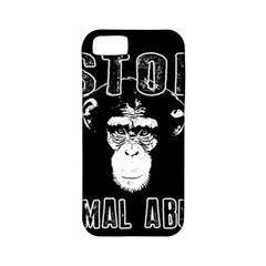 Stop Animal Abuse   Chimpanzee  Apple Iphone 5 Classic Hardshell Case (pc+silicone)