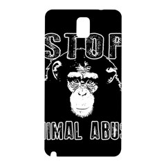 Stop Animal Abuse   Chimpanzee  Samsung Galaxy Note 3 N9005 Hardshell Back Case