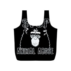 Stop Animal Abuse   Chimpanzee  Full Print Recycle Bags (s)