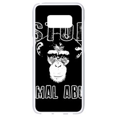 Stop Animal Abuse   Chimpanzee  Samsung Galaxy S8 White Seamless Case
