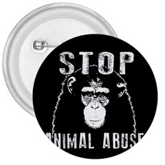 Stop Animal Abuse   Chimpanzee  3  Buttons