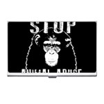 Stop Animal Abuse - Chimpanzee  Business Card Holders Front