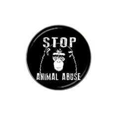 Stop Animal Abuse   Chimpanzee  Hat Clip Ball Marker (10 Pack)