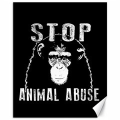 Stop Animal Abuse   Chimpanzee  Canvas 11  X 14