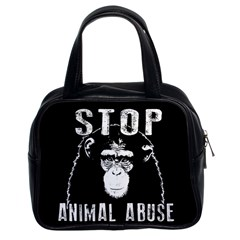 Stop Animal Abuse   Chimpanzee  Classic Handbags (2 Sides)