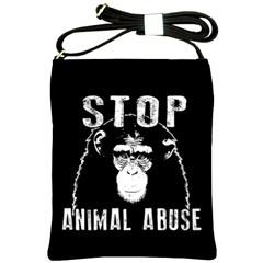 Stop Animal Abuse   Chimpanzee  Shoulder Sling Bags