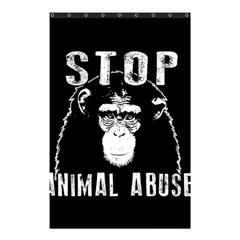 Stop Animal Abuse   Chimpanzee  Shower Curtain 48  X 72  (small)