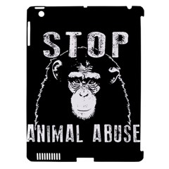 Stop Animal Abuse   Chimpanzee  Apple Ipad 3/4 Hardshell Case (compatible With Smart Cover)