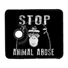 Stop Animal Abuse   Chimpanzee  Galaxy S3 (flip/folio)