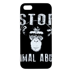 Stop Animal Abuse   Chimpanzee  Iphone 5s/ Se Premium Hardshell Case