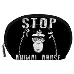 Stop Animal Abuse   Chimpanzee  Accessory Pouches (large)