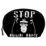 Stop Animal Abuse - Chimpanzee  Accessory Pouches (Large)  Front