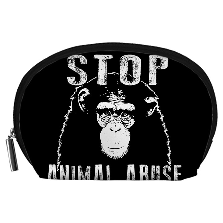 Stop Animal Abuse - Chimpanzee  Accessory Pouches (Large)