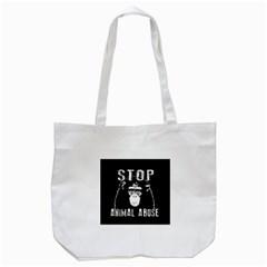 Stop Animal Abuse   Chimpanzee  Tote Bag (white)