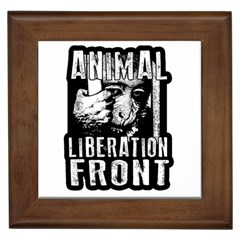 Animal Liberation Front   Chimpanzee  Framed Tiles