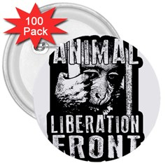 Animal Liberation Front   Chimpanzee  3  Buttons (100 Pack)